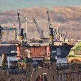 Blick auf Hafen