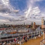 Blick vom Kreuzfahrerschiff