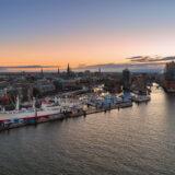 Morgendämmerung in Hamburg